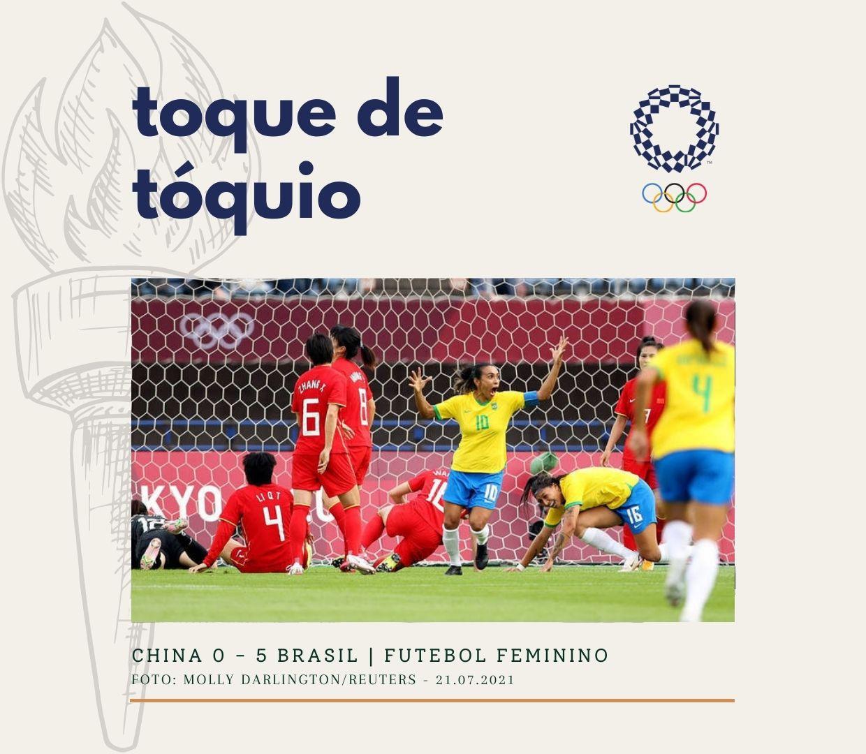 Toque de Tóquio: China 0 x 5 Brasil